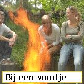 bij een vuurtje
